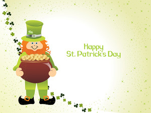 Vector Leprechaun Holding Earthenware