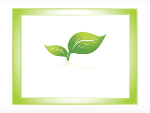 Vector Logo Of Green Leaf