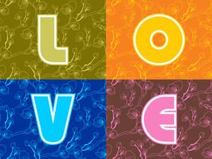 Vector Love Background Illustration