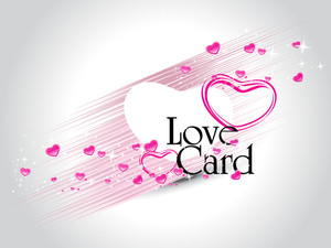 Vector Love Card Illustration