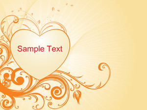 Vector Love Design Artistic Wave Background