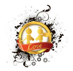 Vector Love Label
