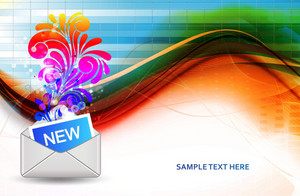 Vector Mail Icon With Swirls