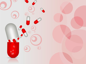Vector  Medical Background With Capsule
