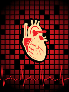 Vector Medical Heart Beat Background