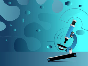 Vector Medical High Tech Science Abstract Background With Microscope