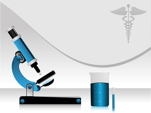 Vector Medical High Tech Science Abstract Background