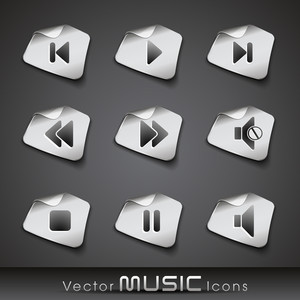 Vector Metallic Music Icons