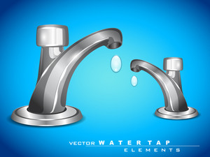 Vector Modern Steel Water Tap