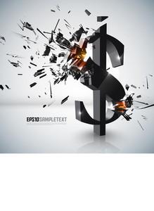 Vector Money Sign Crushing