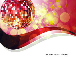 Vector Music Background With Discoball