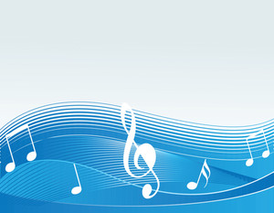 Vector Music Concept In White And Blue