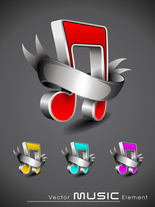 Vector Music Element