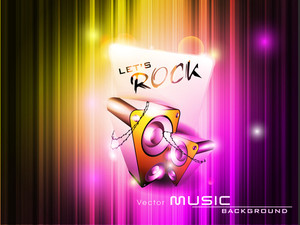 Vector Music Event Abstract With A Colorful Background And Electric Speakers.