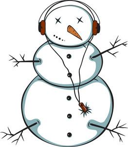 Vector Music Snowman