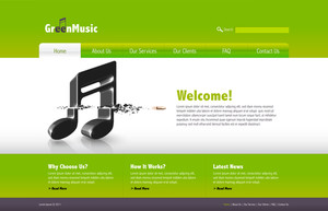 Vector Music Website Template