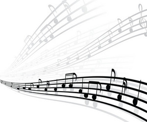 Vector Musical Background With Different Notes