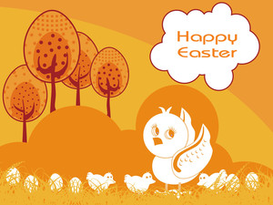 Vector Nature Background For Easter