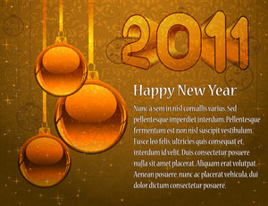 Vector New Year Greeting Card