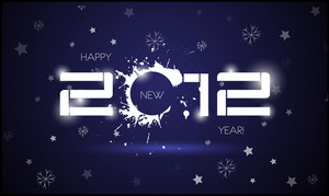 Vector New Year's Eve Greeting Card