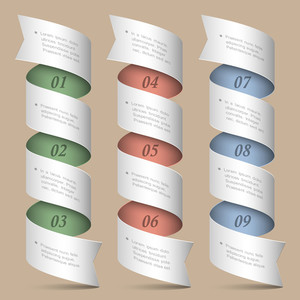 Vector Numbered Ribbons-banners