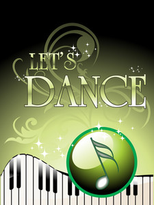 Vector Of Let's Dance Background