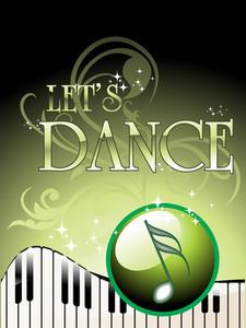 Vector Of Let's Dance Background