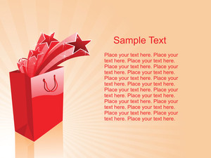 Vector Of Red Shopping Bags With Place For Text