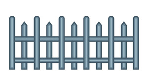 Vector Old Fence