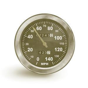 Vector Old Rusty Speedo Meter