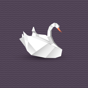Subscription Library Vector Origami Swan