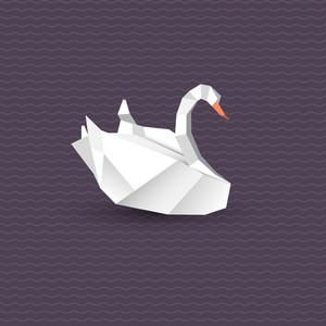 Vector Origami Swan