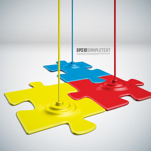 Vector Paints Dripping Puzzles