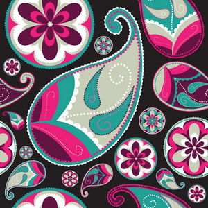 Vector Paisley Pattern