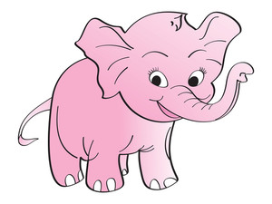 Vector Pink Elephant