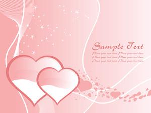 Vector Pink Valentine Illustration