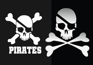 Vector Pirates Skulls