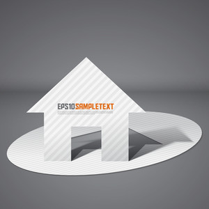 Vector Pop-up Paper Cut House