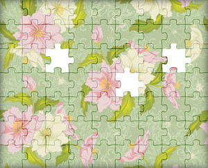 Vector Puzzle Floral Background
