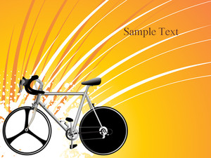 Vector Racing Bicycle On Background