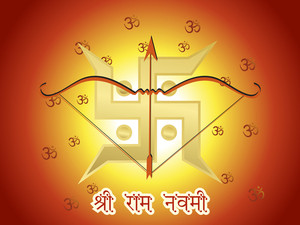 Vector Ramnavami Background