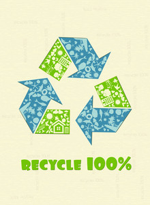 Vector Recycle Design With Green Hand