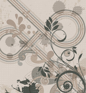 Vector Retro Background With Floral