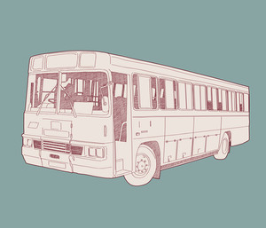 Vector Retro Bus