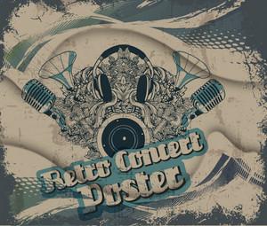Vector Retro Concert Poster