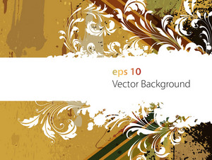 Background Vettore Retro Floral