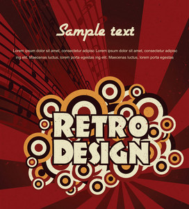 Vector Retro Music Background