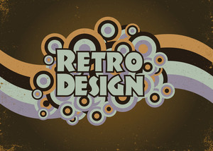 Vector Retro Poster With Circles