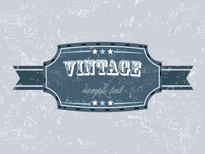 Vector Retro Vintage Grunge Label.