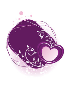 Vector Romantic Floral Pattern Heart